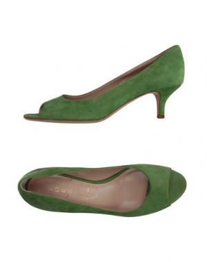 Туфли LORBAC. Цвет: зеленый