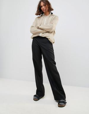 Wood Брюки с добавлением шерсти и широкими штанинами Petra. Цвет: черный