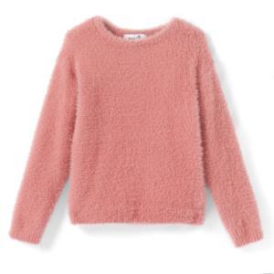 Пуловер с круглым вырезом из очень мягкого трикотажа, 3-12 лет La Redoute Collections. Цвет: розовый