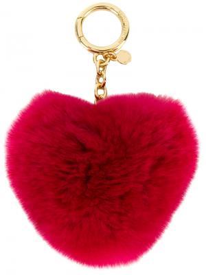 Брелок в форме сердца Michael Kors. Цвет: розовый и фиолетовый