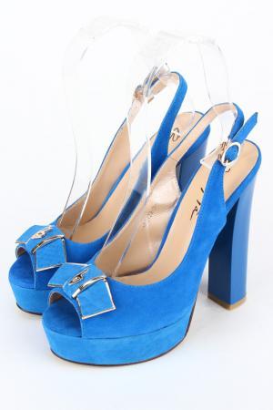Босоножки OnlyTa. Цвет: голубой