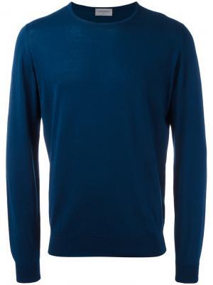 Трикотажный свитер John Smedley. Цвет: синий