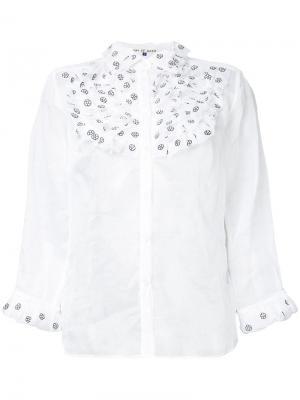 Frill bib shirt Jupe By Jackie. Цвет: белый