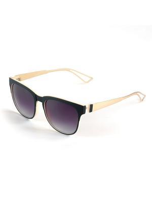 Солнцезащитные очки Selena. Цвет: черный, золотистый, бежевый