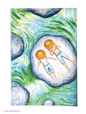 Обложка для автодокументов В панамах на речке Mitya Veselkov. Цвет: зеленый, серый, голубой