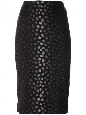 Жаккардовая юбка-карандаш Samantha Sung. Цвет: чёрный
