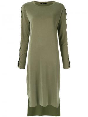 Платье миди Uma   Raquel Davidowicz. Цвет: зелёный