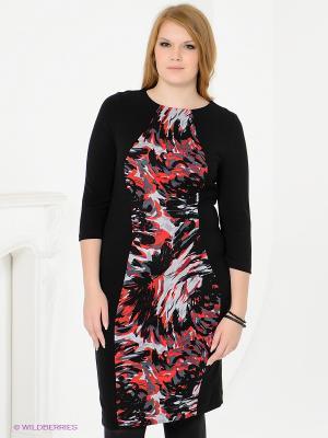 Платье Magnolica. Цвет: черный, красный