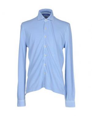 Pубашка DELLA CIANA. Цвет: небесно-голубой