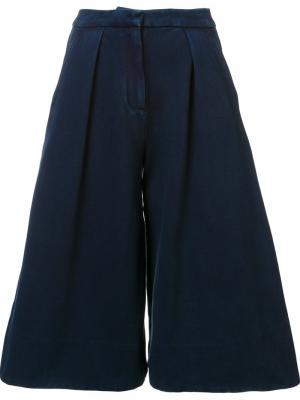 Расклешенные шорты Ag Jeans. Цвет: синий
