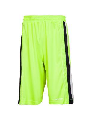 Баскетбольные игровые шорты Advance 2K. Цвет: желтый, белый, темно-синий