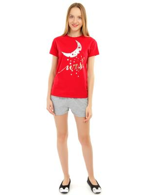 Пижама ТВОЕ. Цвет: красный, серый