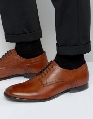 Base London Кожаные туфли дерби Ford. Цвет: рыжий