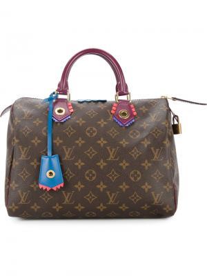 Сумка-тоут Totem Speedy с монограммой Louis Vuitton Vintage. Цвет: коричневый