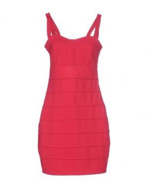 Короткое платье RARE LONDON. Цвет: фуксия