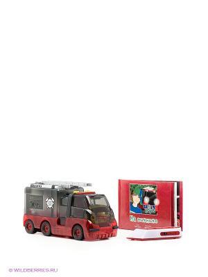 Пожарная машина с книжкой и пультом Worx Toys. Цвет: красный