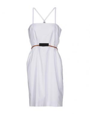 Платье до колена LES PRAIRIES DE PARIS. Цвет: белый