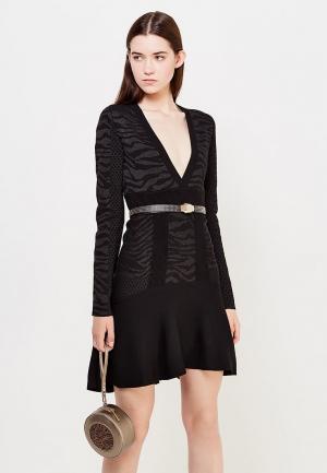 Платье Just Cavalli. Цвет: черный