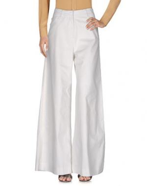Повседневные брюки CAROLINA HERRERA. Цвет: белый
