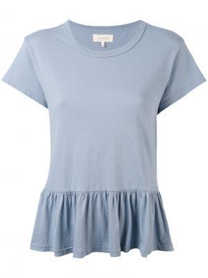 Peplum T-shirt The Great. Цвет: синий