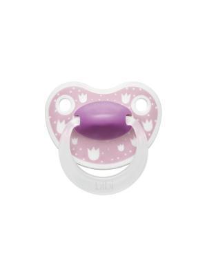 Пустышка Premium Dental силикон 0-6 мес. Happiness LovelyDots Bibi.. Цвет: розовый