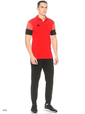 Футболка-поло Adidas. Цвет: красный, черный