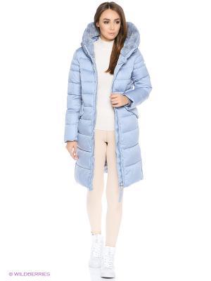 Пальто Snow Guard. Цвет: серо-голубой