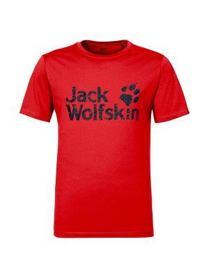 Футболка PRIDE FUNCTION 65 T M Jack Wolfskin. Цвет: малиновый
