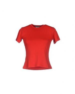 Футболка PARASUCO. Цвет: красный
