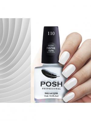 Гибрид гель-лак д ногтей без УФ лампы Тон 110 ультра белый POSH 816 POSH.. Цвет: белый