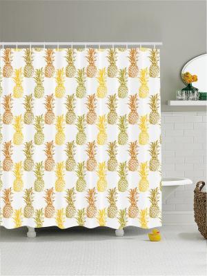 Штора для ванной Magic Lady. Цвет: светло-оранжевый, белый, желтый