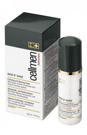 Пена для очищения кожи и бритья Cellcosmet&Cellmen. Цвет: бесцветный