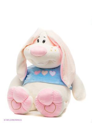 Заяц Ушастик Fancy. Цвет: молочный, розовый
