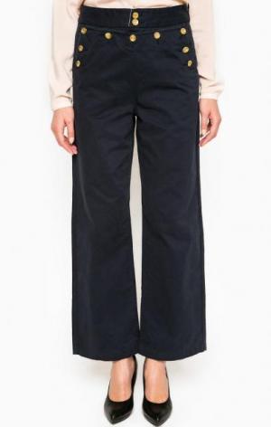 Широкие синие брюки Maison Scotch. Цвет: синий
