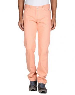 Джинсовые брюки ROŸ ROGER'S. Цвет: лососево-розовый