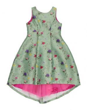 Платье LA STUPENDERIA. Цвет: светло-зеленый