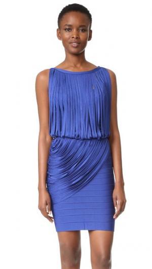 Платье Leilei Herve Leger. Цвет: голубой