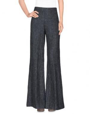 Повседневные брюки KILTIE. Цвет: темно-синий
