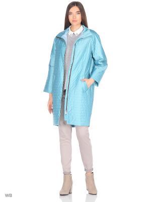 Пальто Batell. Цвет: бирюзовый