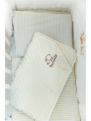 Детское постельное белье Pecorella CHOCOLATE (шоколад) вельбоа. Цвет: темно-коричневый, бежевый, белый