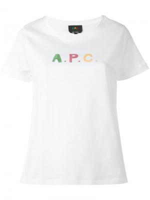 Logo print T-shirt A.P.C.. Цвет: белый
