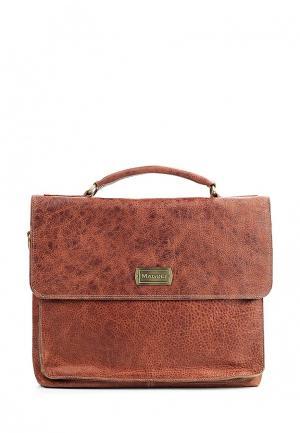Портфель Magoli. Цвет: коричневый