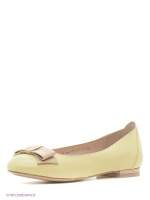 Балетки Lisette. Цвет: светло-желтый