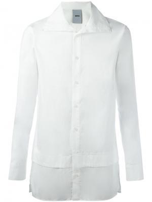 Рубашка с высокой горловиной D.Gnak. Цвет: белый