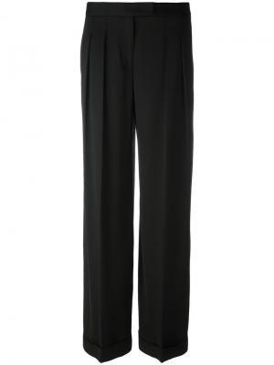 Широкие брюки Donna Karan. Цвет: чёрный