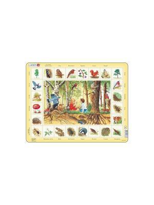 Пазл Лес (Русский) LARSEN AS. Цвет: белый, желтый, голубой, зеленый, оранжевый, синий
