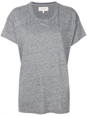 Классическая футболка свободного кроя The Great. Цвет: серый