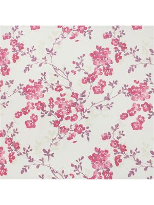 Миниролл блэкаут Акварельные цветы 80х160 DECOFEST. Цвет: фиолетовый, розовый, светло-бежевый