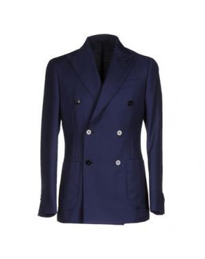 Пиджак LUIGI BORRELLI NAPOLI. Цвет: темно-синий
