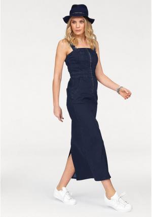 Джинсовое платье Arizona. Цвет: потертый